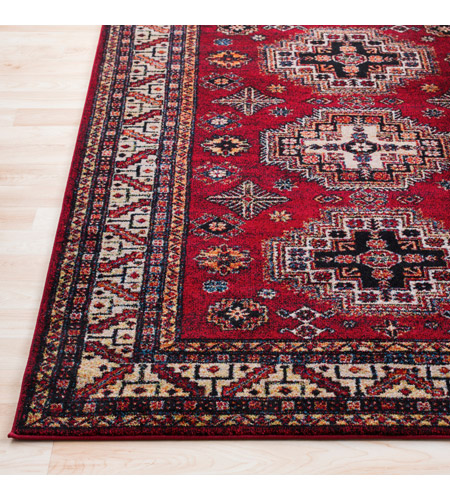 41ELIZABETH 57481-DR Brandon 87 X 31 inch Dark Red/Black/Ivory/Bright Orange/Tan/Lime Rugs, Polypropylene srp1007-front.jpg