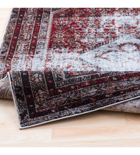 41ELIZABETH 57488-MG Brandon 87 X 31 inch Medium Gray/Black/Ivory/Dark Red/Tan Rugs, Polypropylene srp1009-fold.jpg