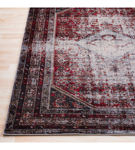 41ELIZABETH 57488-MG Brandon 87 X 31 inch Medium Gray/Black/Ivory/Dark Red/Tan Rugs, Polypropylene srp1009-front.jpg