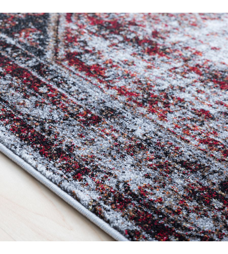 41ELIZABETH 57488-MG Brandon 87 X 31 inch Medium Gray/Black/Ivory/Dark Red/Tan Rugs, Polypropylene srp1009-texture.jpg