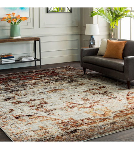 41ELIZABETH 57494-DR Brandon 35 X 24 inch Dark Red/Ivory/Black/Bright Orange/Medium Gray Rugs, Polypropylene srp1010-roomscene_201.jpg