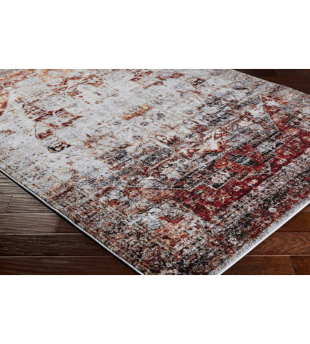 41ELIZABETH 57494-DR Brandon 35 X 24 inch Dark Red/Ivory/Black/Bright Orange/Medium Gray Rugs, Polypropylene srp1010_corner.jpg