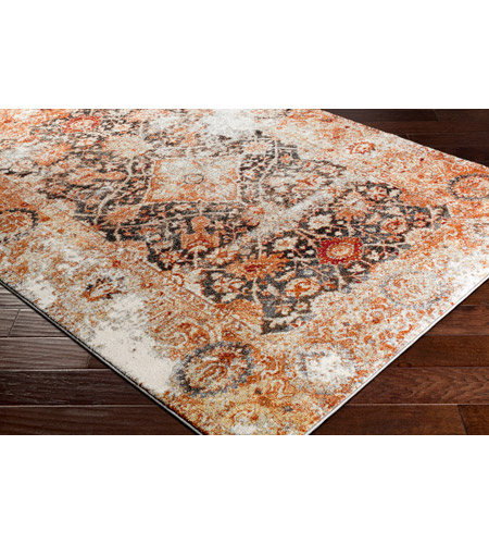 41ELIZABETH 57511-BO Brandon 87 X 63 inch Bright Orange/Black/Ivory/Dark Red/Medium Gray Rugs, Rectangle srp1013_corner.jpg