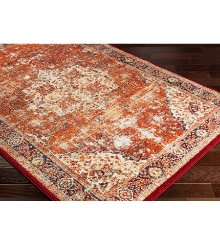 41ELIZABETH 57532-BO Brandon 87 X 63 inch Bright Orange/Dark Red/Bright Yellow/Ivory Rugs, Rectangle srp1019_corner.jpg