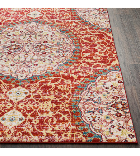 41ELIZABETH 57546-DR Brandon 87 X 63 inch Dark Red/Bright Orange/Ivory/Bright Yellow Rugs, Rectangle srp1021-front.jpg