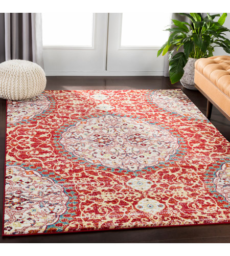 41ELIZABETH 57546-DR Brandon 87 X 63 inch Dark Red/Bright Orange/Ivory/Bright Yellow Rugs, Rectangle srp1021-roomscene_201.jpg