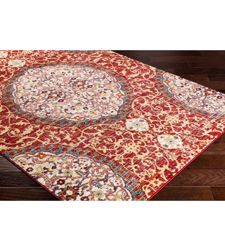 41ELIZABETH 57546-DR Brandon 87 X 63 inch Dark Red/Bright Orange/Ivory/Bright Yellow Rugs, Rectangle srp1021_corner.jpg