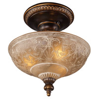 41 Elizabeth 40135-GBA Hamlet 3 Light 12 inch Golden Bronze Semi Flush Mount Ceiling Light in Standard