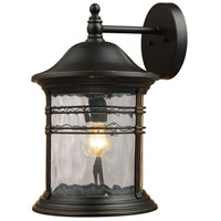 41ELIZABETH 46846-MB Fortuna 1 Light 18 inch Matte Black Outdoor Sconce