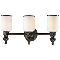 41 Elizabeth 40149-OROW Parker 3 Light 21 inch Oil Rubbed Bronze Vanity Light Wall Light in Incandescent