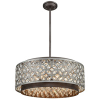 41ELIZABETH 46950-WZC Barclay 6 Light 22 inch Weathered Zinc with Matte Silver Pendant Ceiling Light