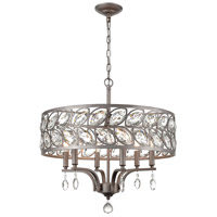 41 Elizabeth 40155-WZCI Trini 6 Light 22 inch Weathered Zinc Chandelier Ceiling Light