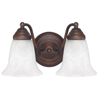 41ELIZABETH 46468-BBWF Booker 2 Light 12 inch Burnished Bronze Vanity Light Wall Light thumb