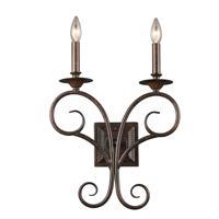 41ELIZABETH 46962-AB Roscoe 2 Light 14 inch Antique Bronze Sconce Wall Light
