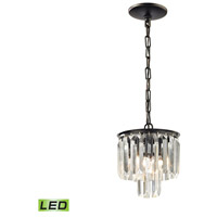 41 Elizabeth 46985-ORCL Farrell LED 8 inch Oil Rubbed Bronze Mini Pendant Ceiling Light