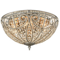 41 Elizabeth 40168-WZC Benedetta 6 Light 17 inch Weathered Zinc Flush Mount Ceiling Light in Incandescent