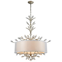 41 Elizabeth 40183-AS Tracy 6 Light 32 inch Aged Silver Chandelier Ceiling Light in Incandescent