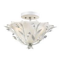 41 Elizabeth 40190-AW Edmonde 2 Light 17 inch Antique White Semi Flush Mount Ceiling Light