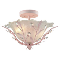 41 Elizabeth 40198-LPFH Edmonde 2 Light 17 inch Light Pink Semi Flush Mount Ceiling Light in Incandescent