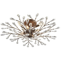 41 Elizabeth 40204-SBCC Trey 8 Light 32 inch Sunglow Bronze Semi Flush Mount Ceiling Light