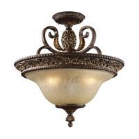 41 Elizabeth 40052-BBO Halsey 3 Light 19 inch Burnt Bronze Semi Flush Mount Ceiling Light