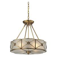 41 Elizabeth 40088-BBW Rayburn 4 Light 18 inch Brushed Brass Chandelier Ceiling Light