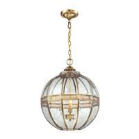 41 Elizabeth 47073-BBC Delight 3 Light 16 inch Brushed Brass Pendant Ceiling Light