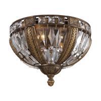 41ELIZABETH 47084-ABC Wallace 4 Light 15 inch Antique Bronze Flush Mount Ceiling Light