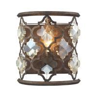 41 Elizabeth 47092-WBAT Serafina 1 Light 8 inch Weathered Bronze Sconce Wall Light