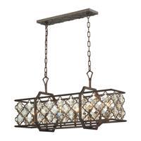 41ELIZABETH 40331-WBAT Serafina 6 Light 12 inch Weathered Bronze Chandelier Ceiling Light