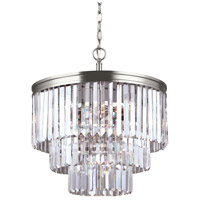 41ELIZABETH 42966-ABCB Kyle 4 Light 18 inch Antique Brushed Nickel Chandelier Ceiling Light