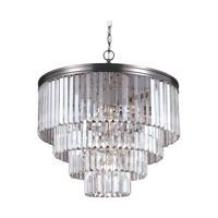 41 Elizabeth 40604-ABPG Kyle 6 Light 24 inch Antique Brushed Nickel Chandelier Ceiling Light
