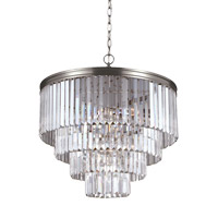 41ELIZABETH 42968-ABCB Kyle 6 Light 24 inch Antique Brushed Nickel Chandelier Ceiling Light
