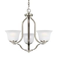 41ELIZABETH 43056-BNSE Hilton 3 Light 20 inch Brushed Nickel Chandelier Ceiling Light