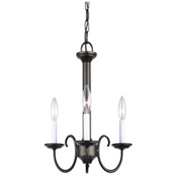 41ELIZABETH 43115-HB Stacey 3 Light 16 inch Heirloom Bronze Chandelier Ceiling Light