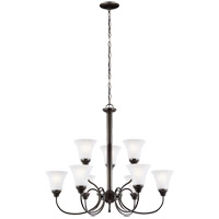 41ELIZABETH 43121-HBSE Stacey 9 Light 30 inch Heirloom Bronze Chandelier Ceiling Light