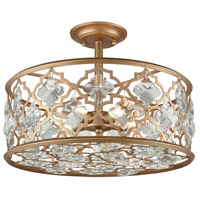 41ELIZABETH 47105-MGCC Serafina 4 Light 17 inch Matte Gold Semi Flush Mount Ceiling Light