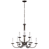 41ELIZABETH 43125-HB Stacey 9 Light 28 inch Heirloom Bronze Chandelier Ceiling Light