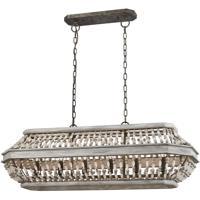 41ELIZABETH 47125-WG Zanobi 6 Light 39 inch Washed Gray/Malted Rust Chandelier Ceiling Light