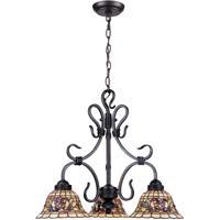 41 Elizabeth 47133-VATG Harmony 3 Light 21 inch Vintage Antique Chandelier Ceiling Light