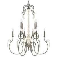 41ELIZABETH 46518-FC Macy 10 Light 37 inch French Country Chandelier Ceiling Light