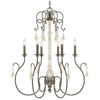 41ELIZABETH 46519-FC Macy 6 Light 30 inch French Country Chandelier Ceiling Light