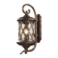 41ELIZABETH 47162-HBC Julian 3 Light 15 inch Hazelnut Bronze Outdoor Sconce