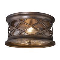 41ELIZABETH 47167-HBC Julian 2 Light 12 inch Hazelnut Bronze Outdoor Flush Mount