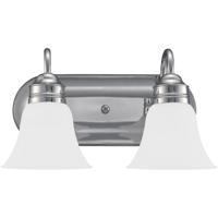 41ELIZABETH 40371-CSE Adger 2 Light 15 inch Chrome Bath Vanity Wall Light in Satin Etched Glass