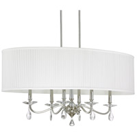 41ELIZABETH 46526-PNCC Viridis 6 Light 38 inch Polished Nickel Island Ceiling Light