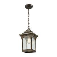 41ELIZABETH 40010-HBCS Doyle 1 Light 8 inch Hazelnut Bronze Outdoor Hanging Light