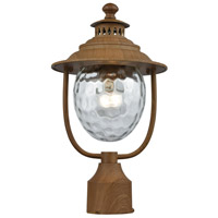 41ELIZABETH 47201-DWCW Chivalry 1 Light 15 inch Dark Wood Outdoor Post Mount
