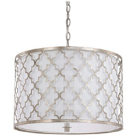 41ELIZABETH 46530-AS Nydia 3 Light 18 inch Antique Silver Pendant Ceiling Light
