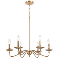 41 Elizabeth 55935-BB Cygnus 25 inch Burnished Brass Chandelier Ceiling Light